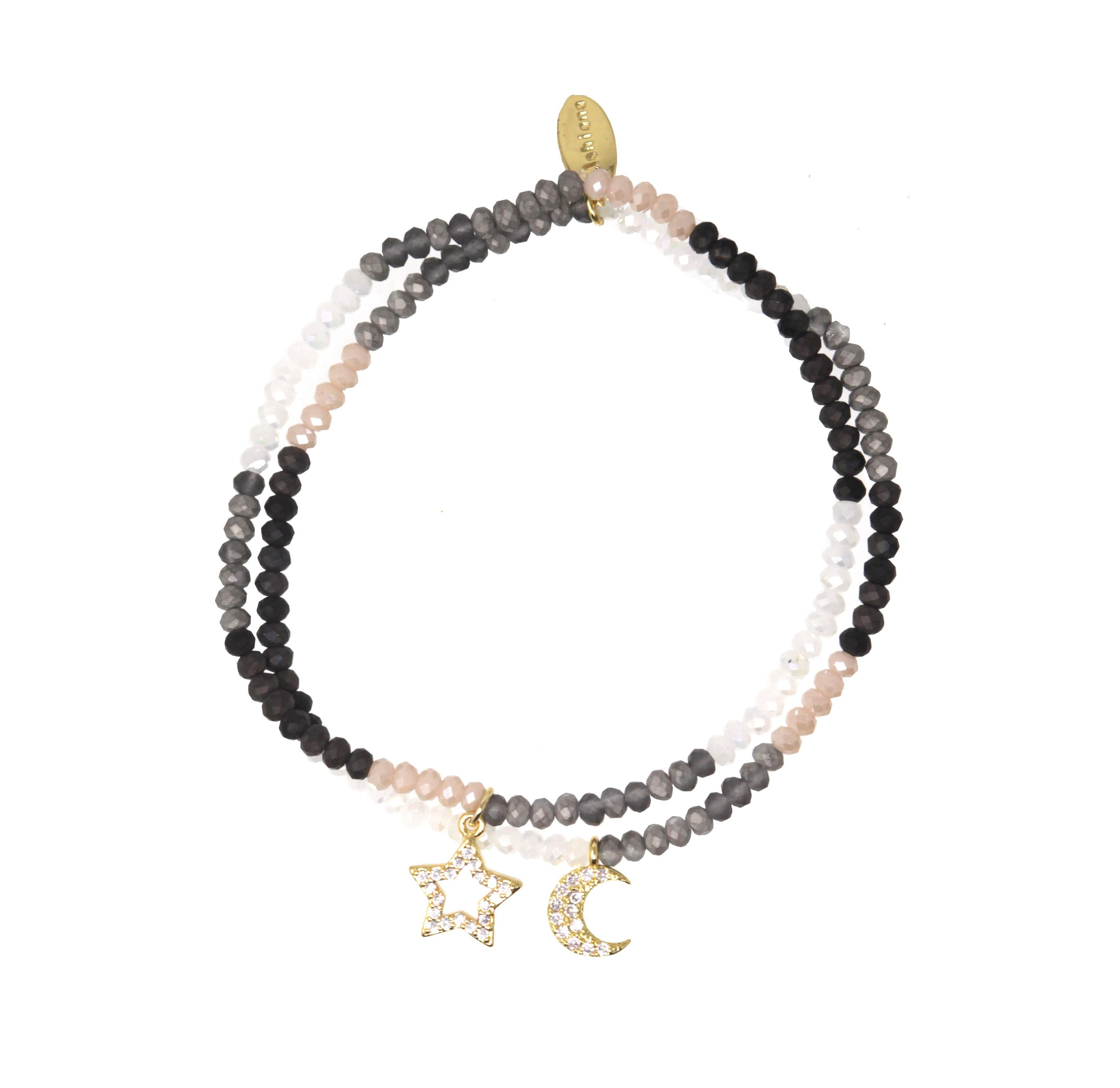 9b78f1e0e548c Star and Moon Charm Bracelet by Ashiana London