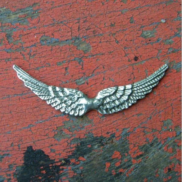 Brooch Angel Wings Open