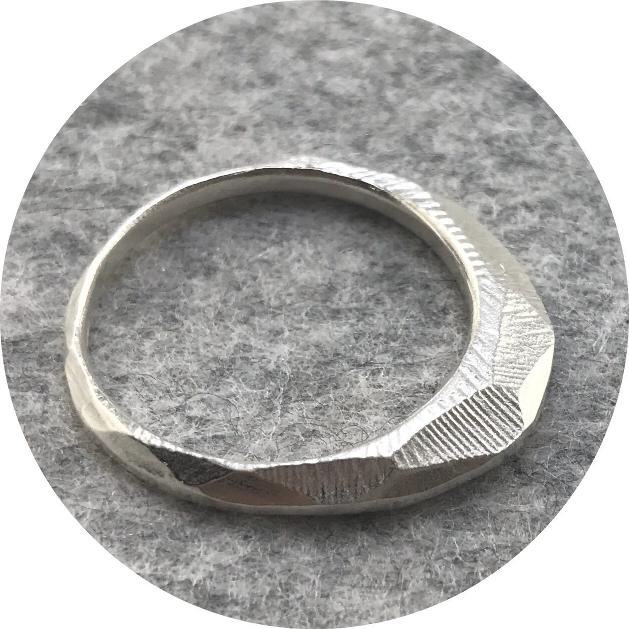 Abby Seymour- Illume ring. Sterling silver.