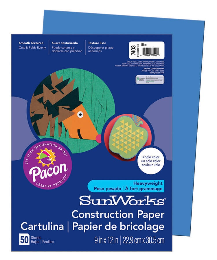 PA 7403 CONSTRUCTION PAPER 9 X 12 BLUE