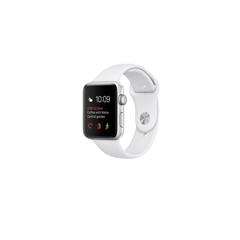 buy popular 3cf2f 657b1 Apple Watch Series 3 42mm Silver Aluminium Case with Fog Sport Band  MQL02TH/A