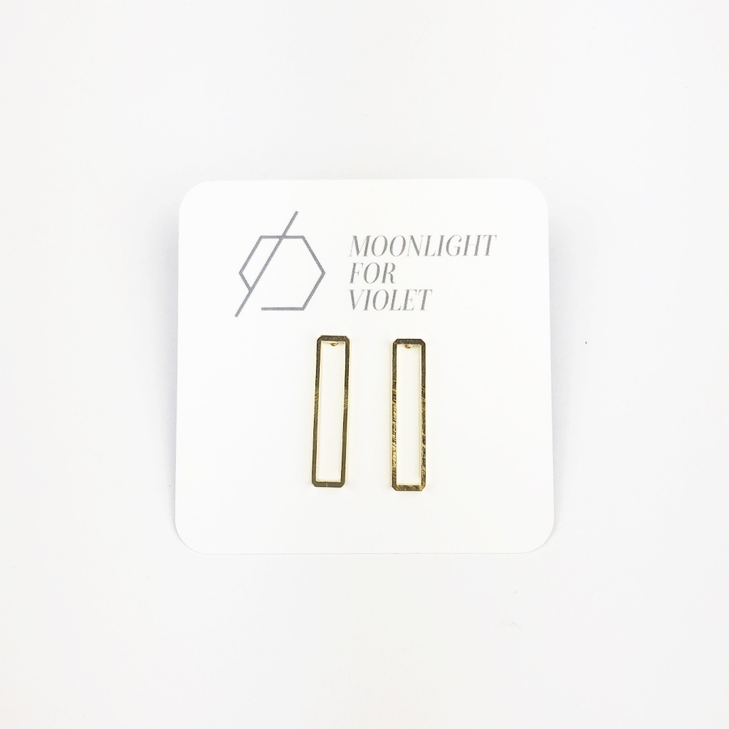 Long Rectangle Studs