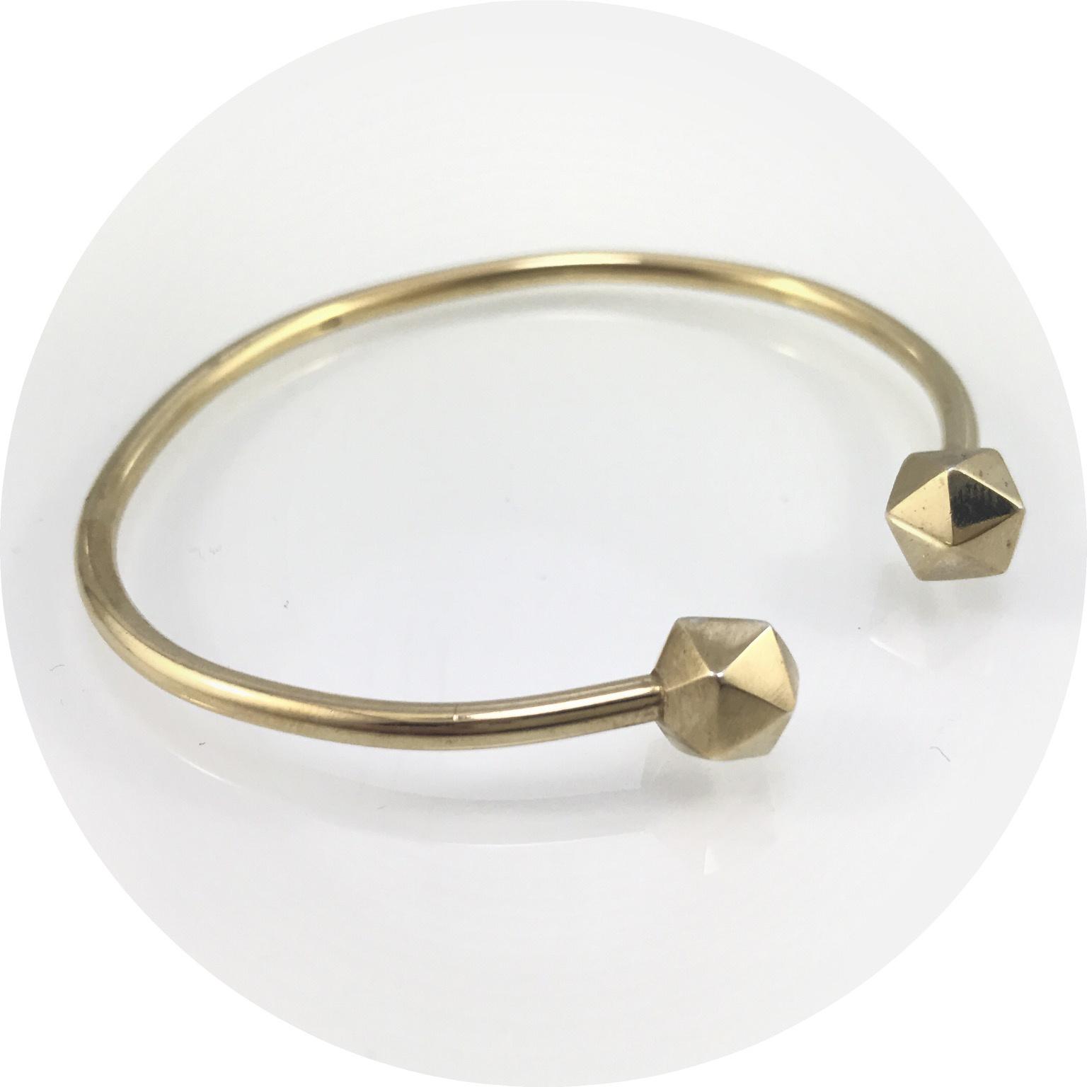 Kimba Pham - 'Icosahedron' Cuff in Gold Vermeil