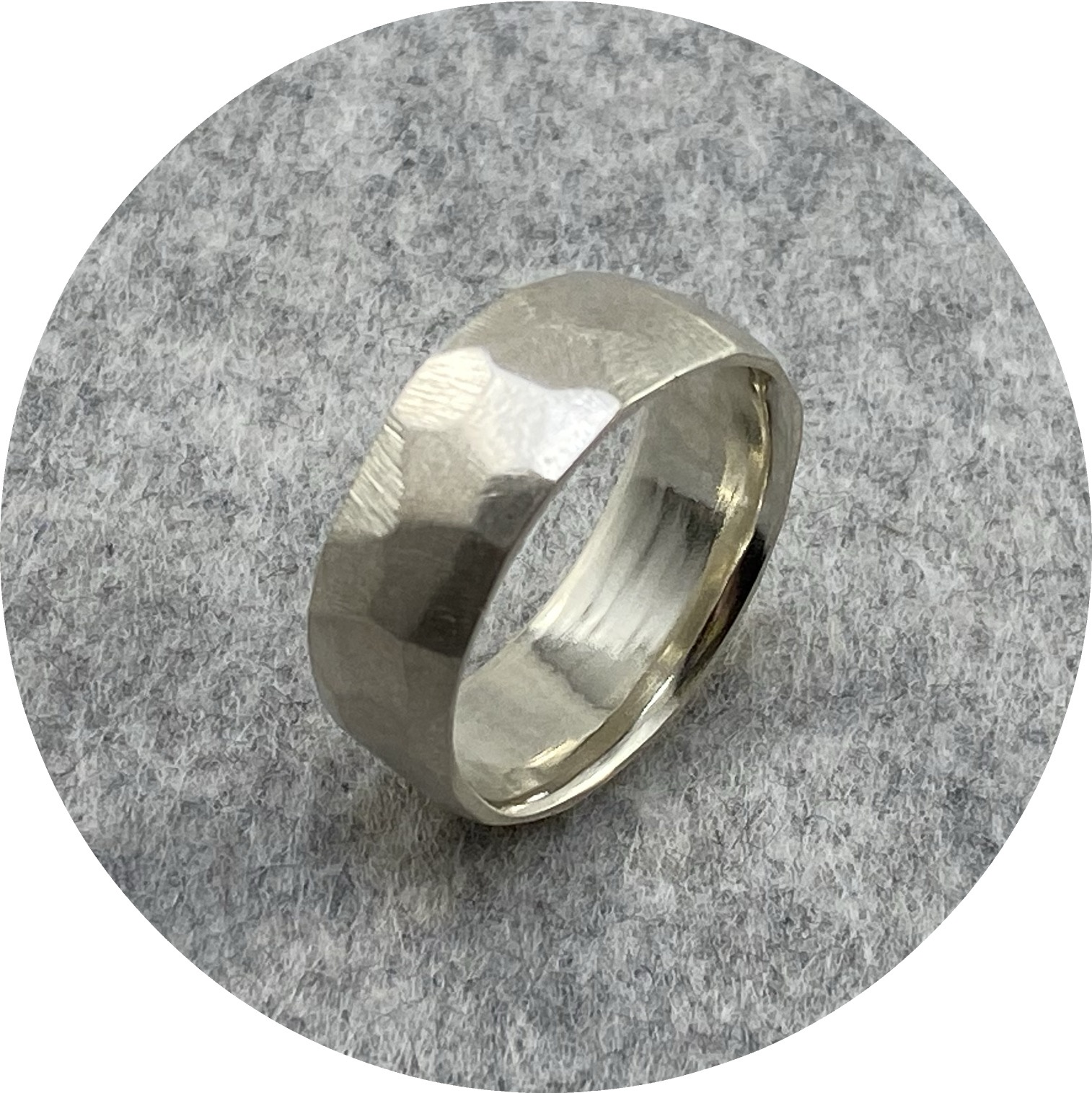 Katie Shanahan - Wide Faceted Sterling Silver Ring