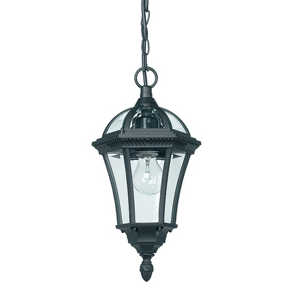 Drayton 1lt pendant IP44 60W - textured black