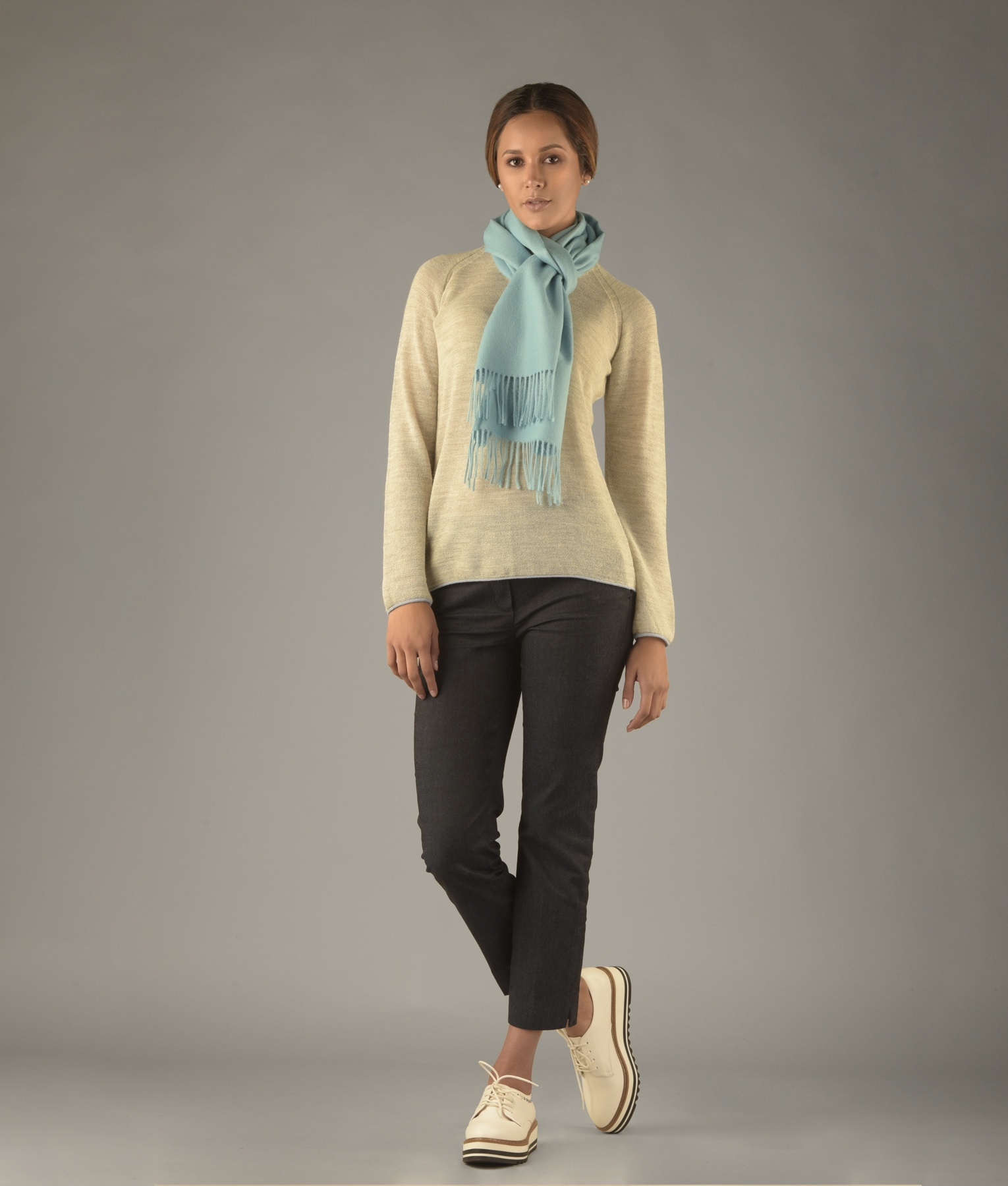 LONG BRUSHED SCARF AZ14025