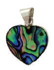 Pendant Paua Heart 15mm Box and Chain