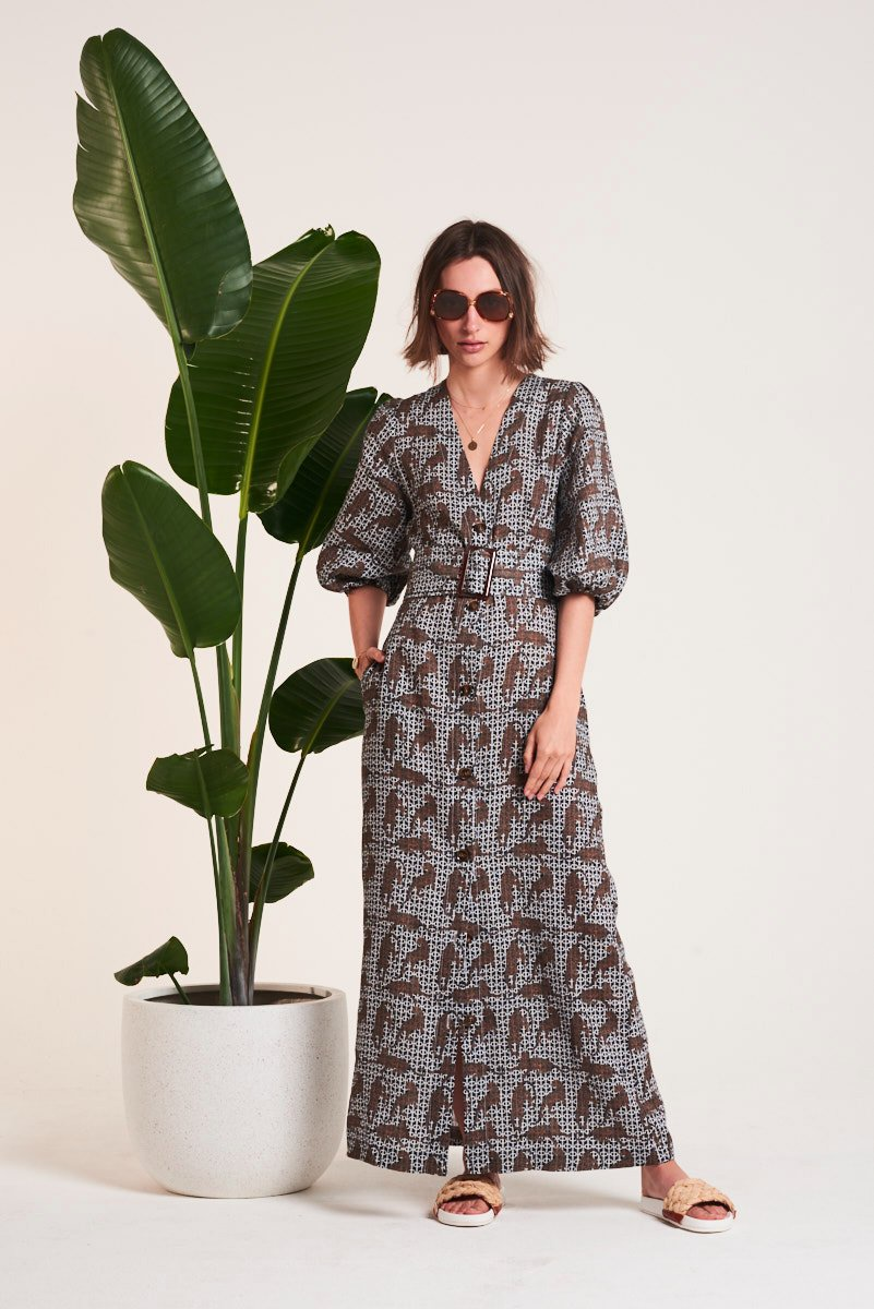 Le Stripe Wanderlust 70's Dress