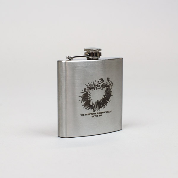 Pass~Port & TFT Insides Warm Hip Flask