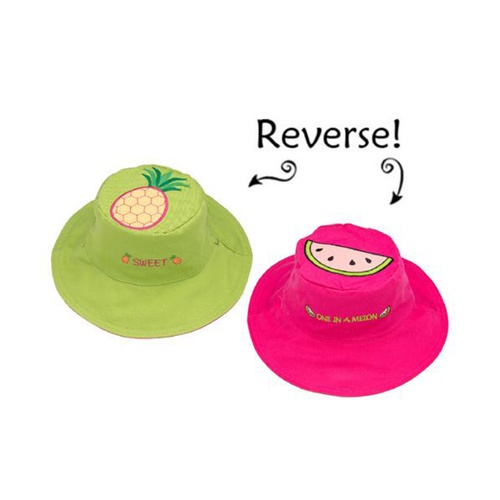 FlapJackKids Kids' Sun Hat Pineapple/Watermelon 2-4Y