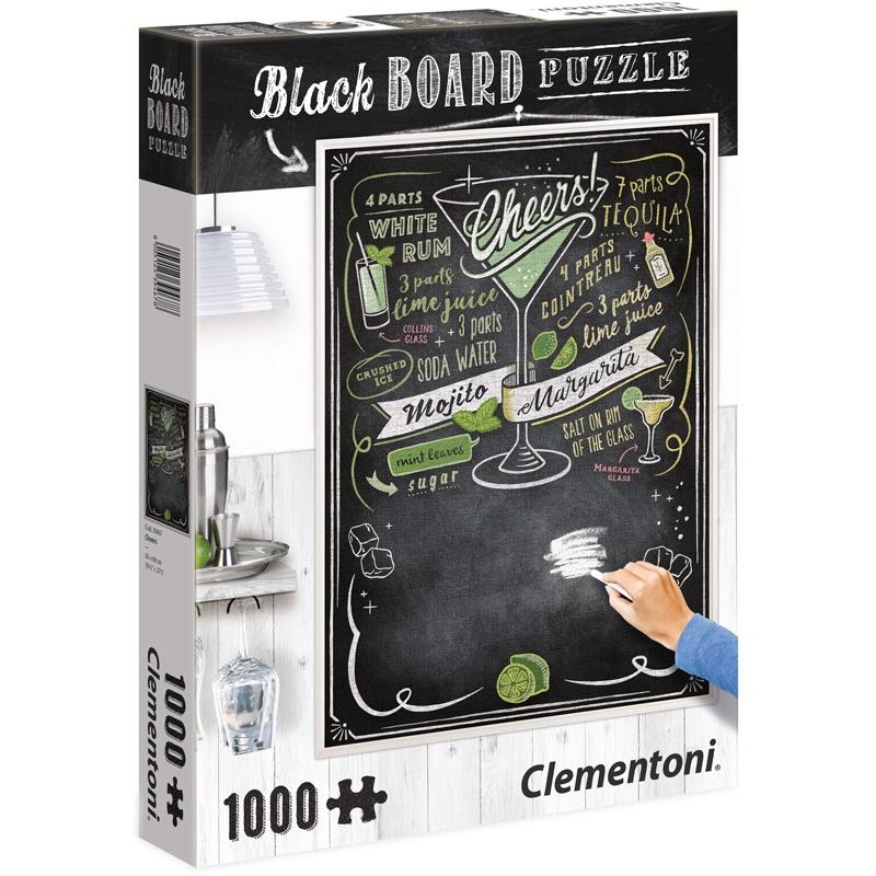 1000 PC PUZZLE BLACK BOARD CHEERS