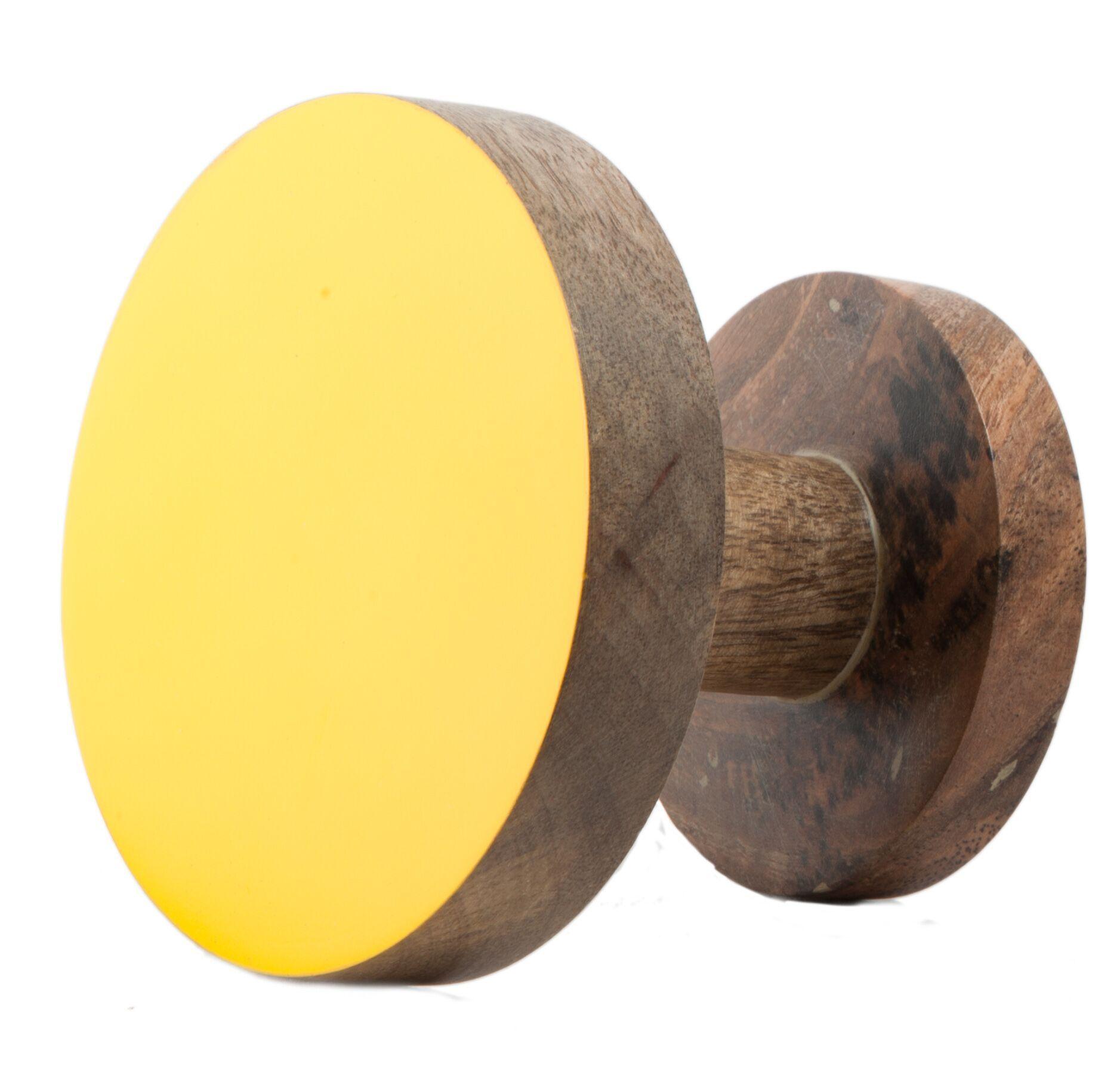 Round Coat Hooks wooden hooks large (circle) - industria