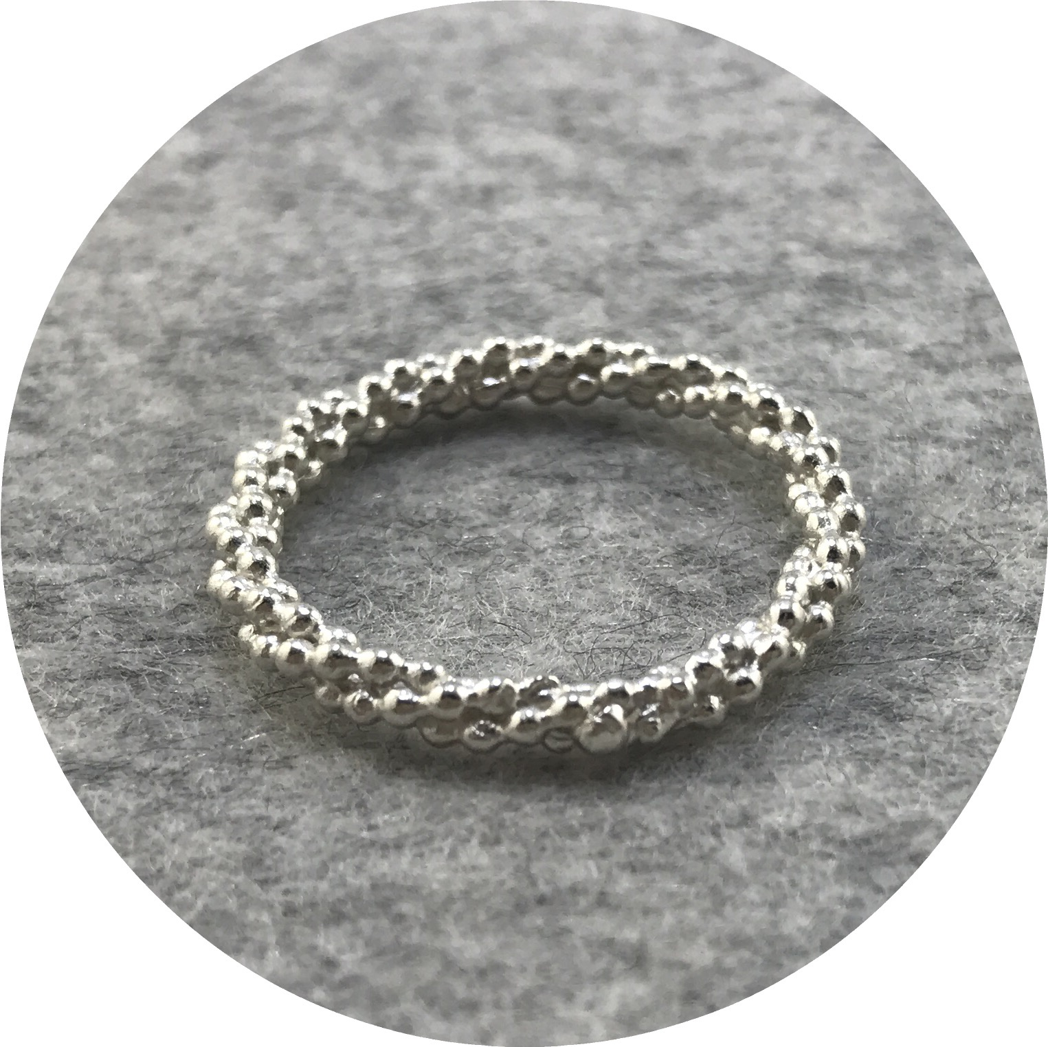 Abby Seymour- Seed Ring. Sterling silver.