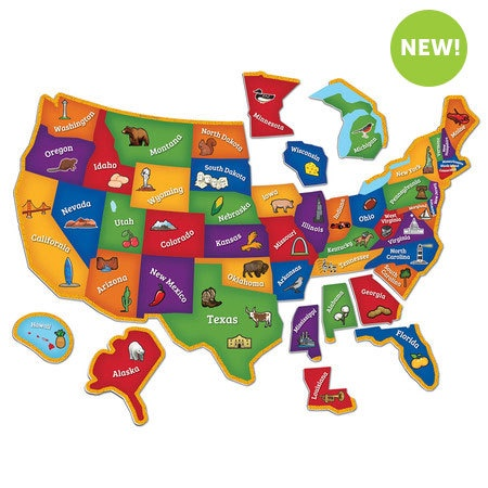 LER 7714 MAGNETIC MAP PUZZLE