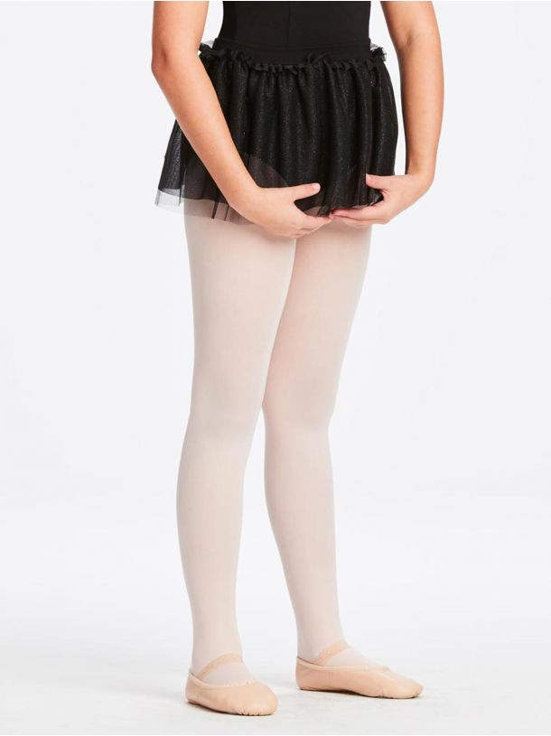 Capezio Child Sparkle Ruffle Pull-On Skirt (11351C) BLK