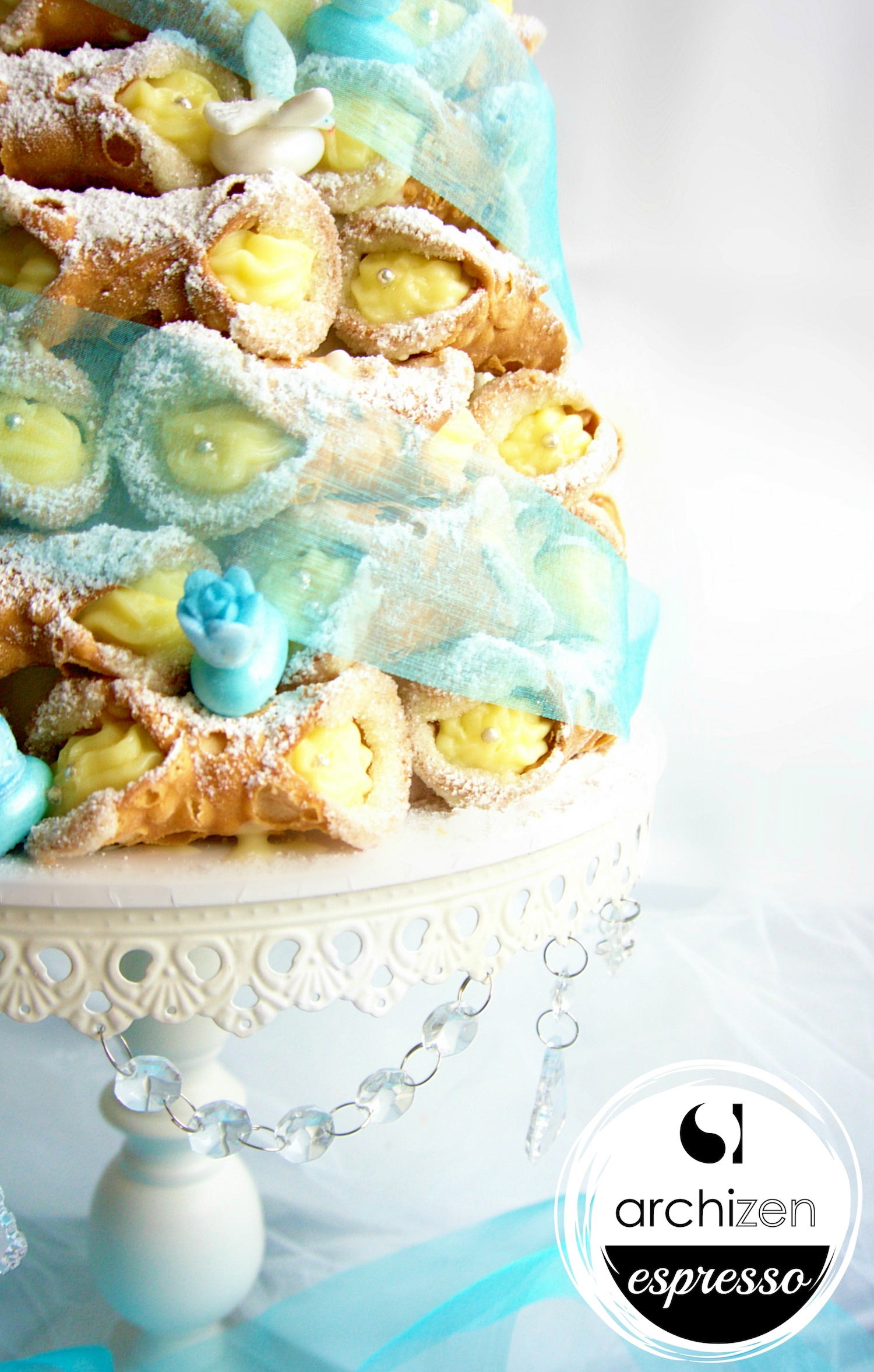 Custom Cannoli Tower - Blue