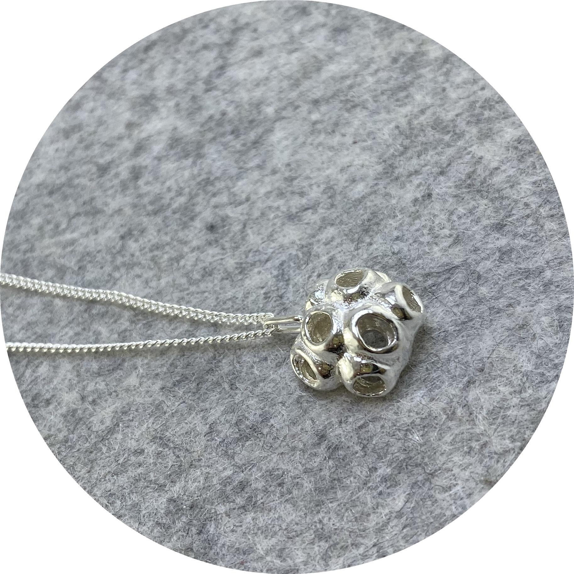 Manuela Igreja- Melaleuca pod necklace. Sterling silver.