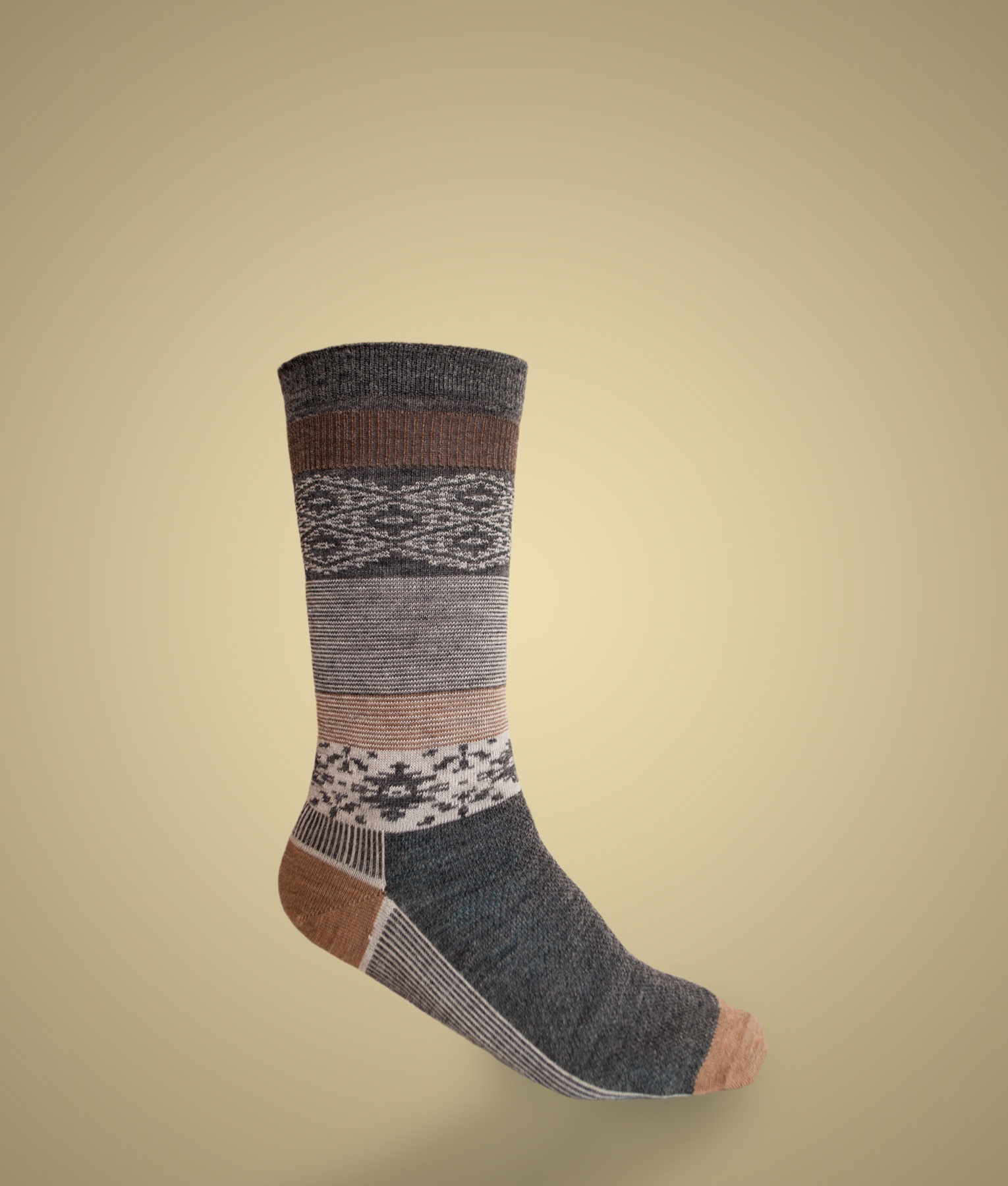 SEED STITCH ARGYLE LADIES SOCKS C001