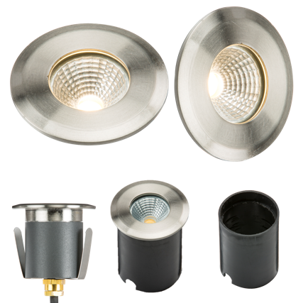 230V IP65 5W LED RECESSED GROUND LIGHT