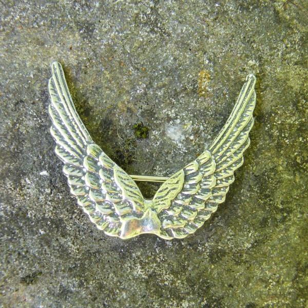 Brooch Angel Wings Up