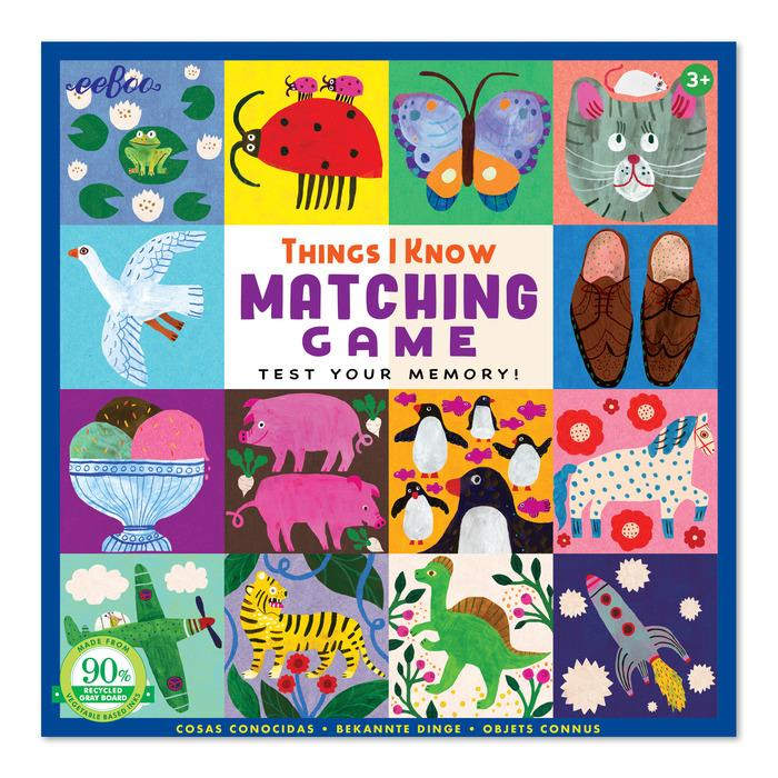 THINGS I KNOW MATCHING GAME
