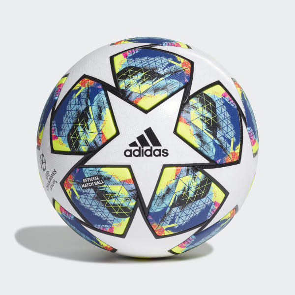 adidas Finale 19 Official Match Ball OMB Champions League White/Brcyan/Syello