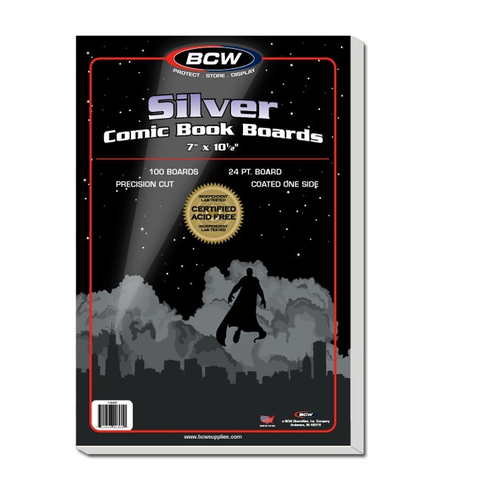 BCW Silver Comic Backing Boards 100 Pack