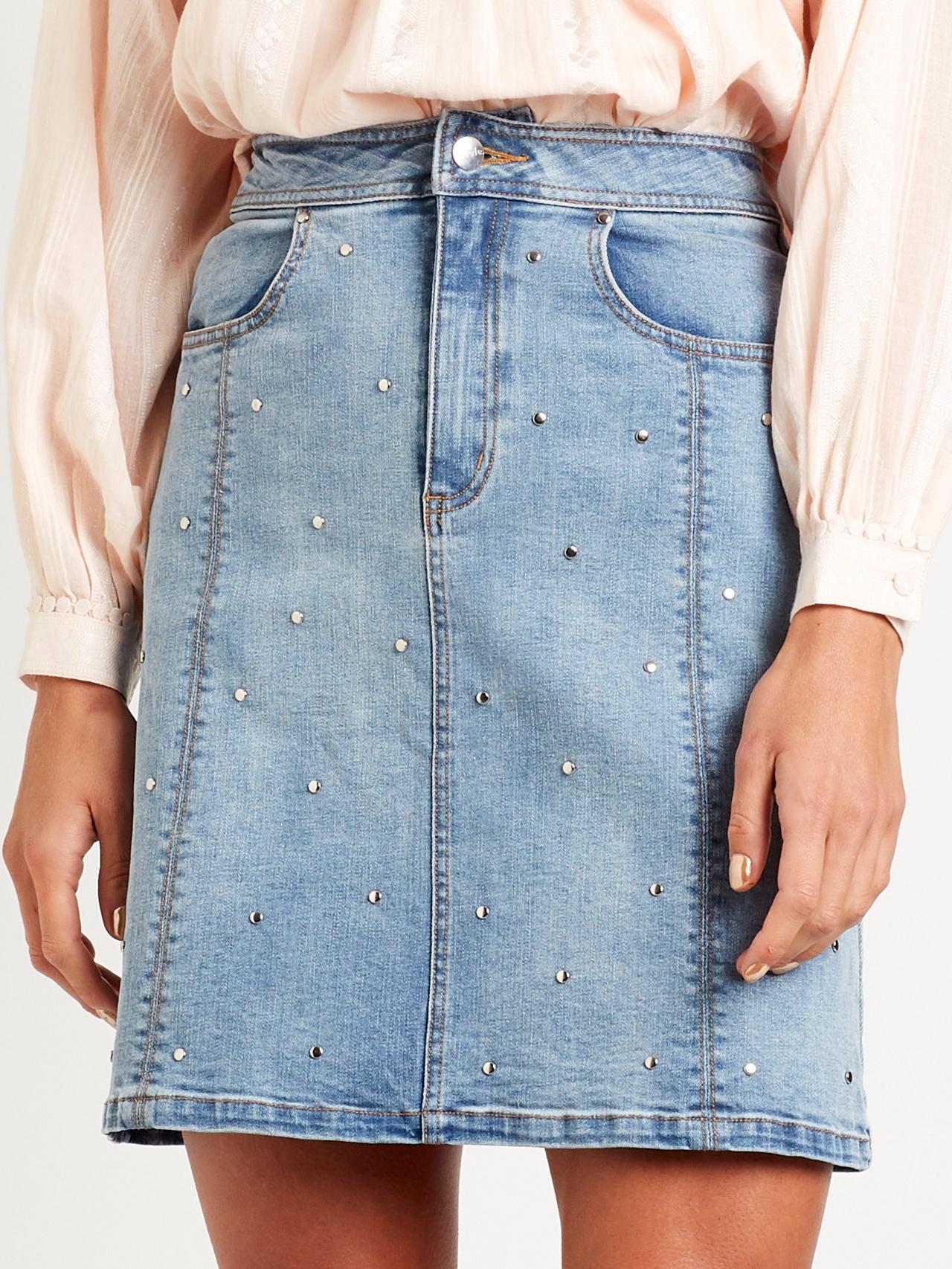 Steele Tyler Stud Short Skirt