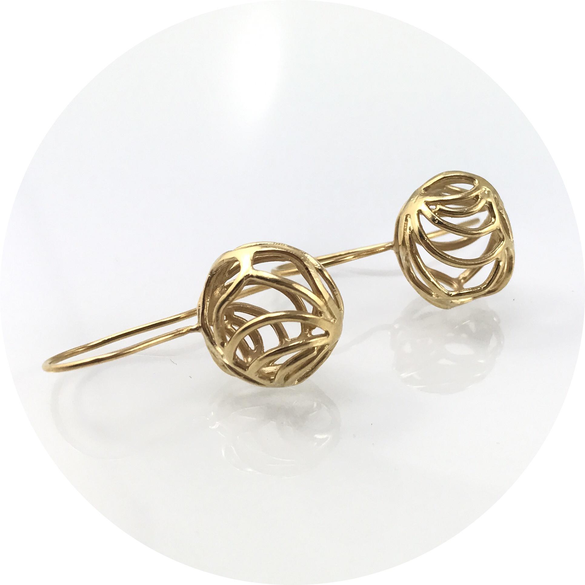 Antonia Field - Gold Plated Sterling Silver Hook Earrings