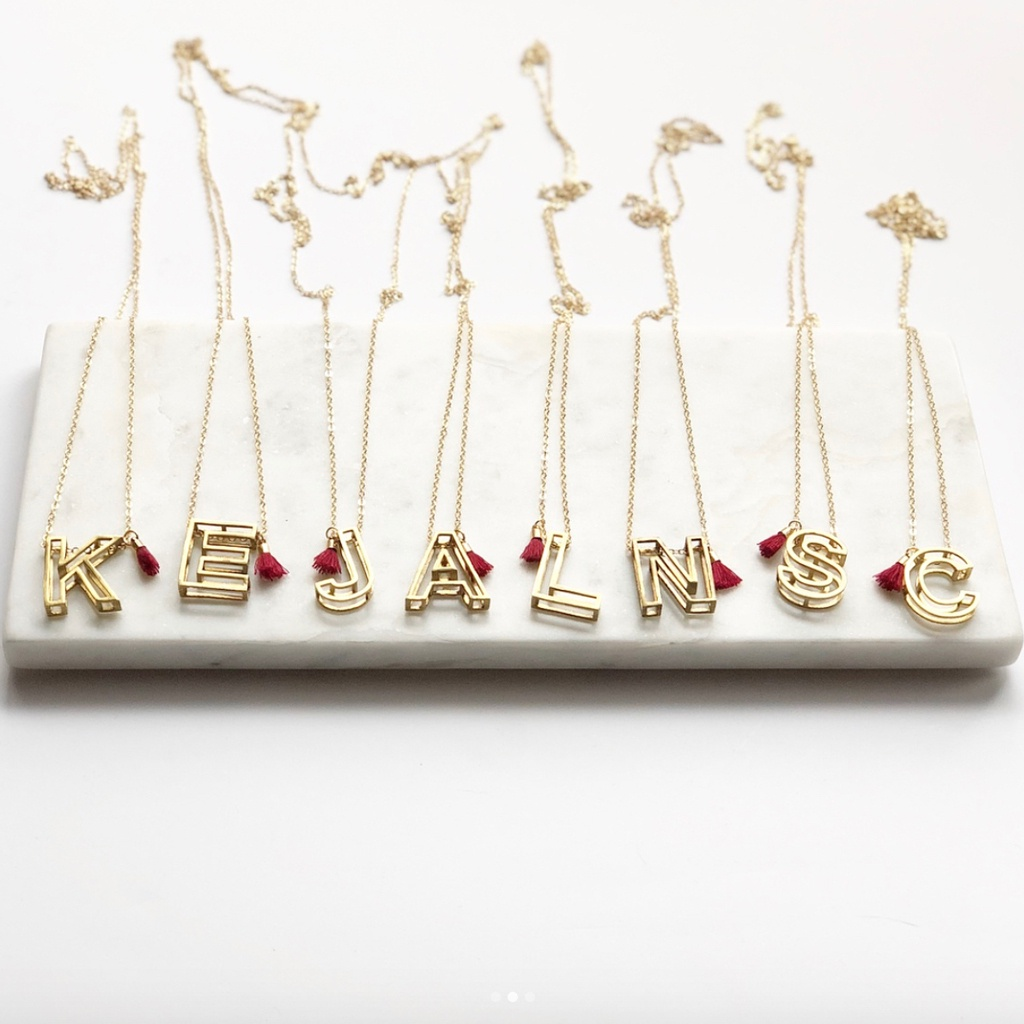 3D Letter Necklace