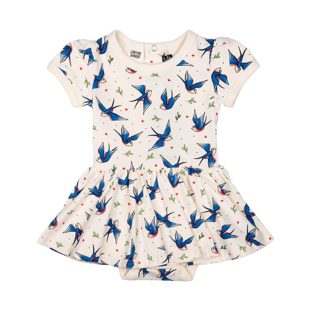RYB Blue Birds Baby Waisted Dress