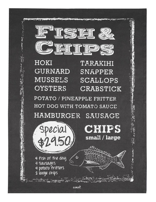 Fish & Chips Teatowel