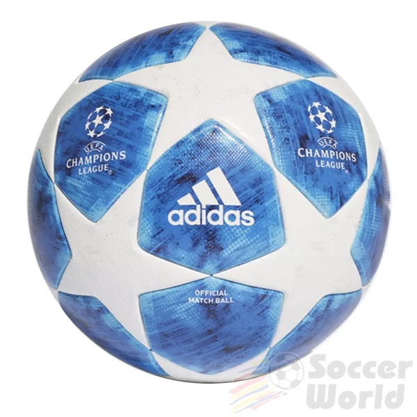 adidas Finale 18 Official Match Ball Champions League White/Footbal Blue/Bright Cyan/Collegiate Royal
