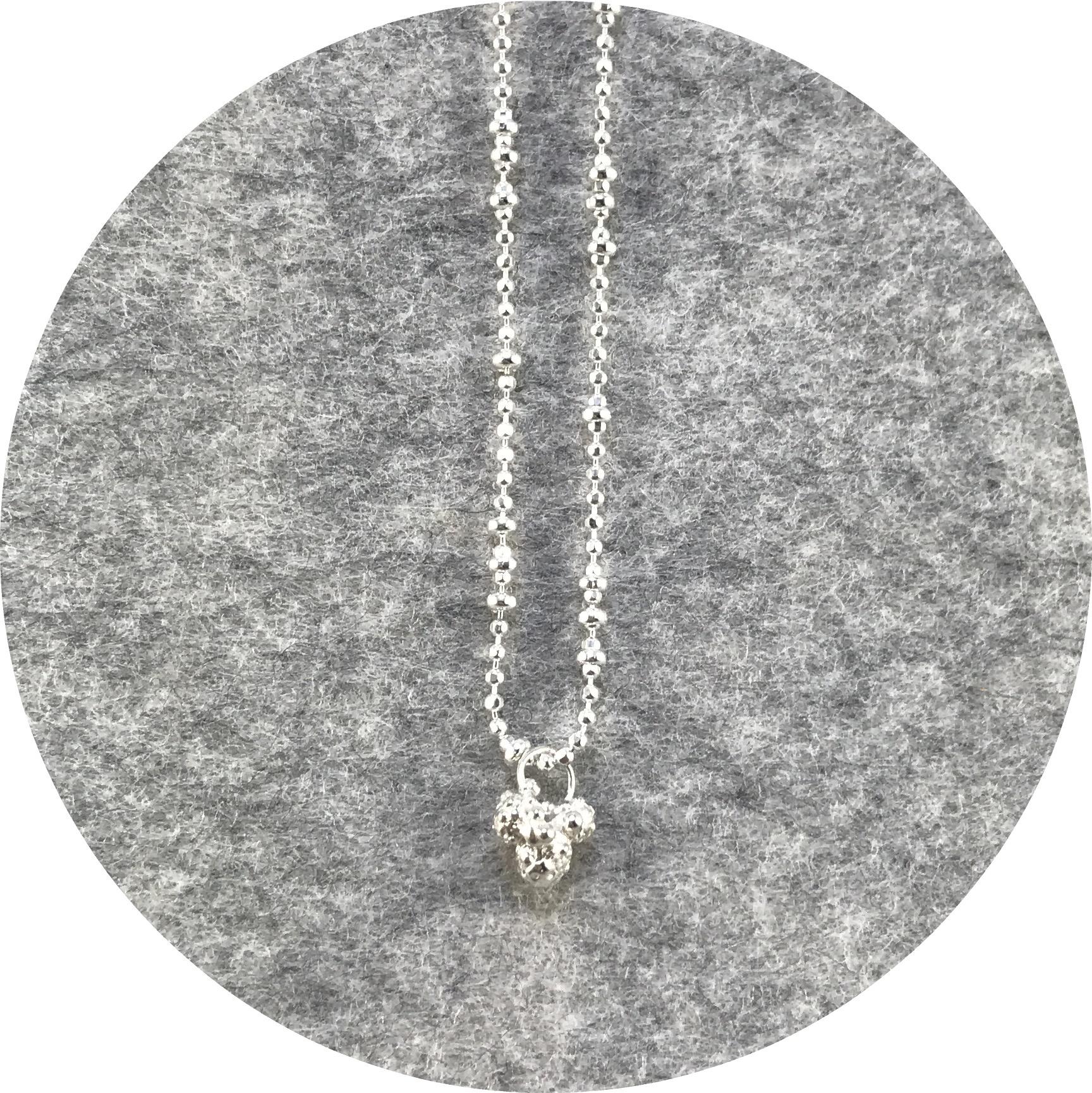 Abby Seymour- Wattle Amulet. Sterling silver.