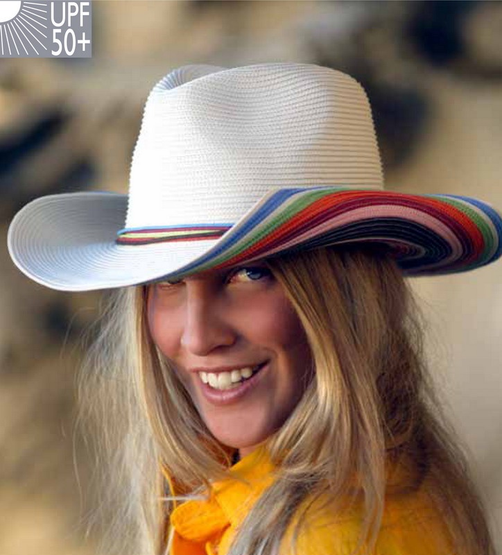 ab6a9db8804 Rainbow Striped Sun Hat 58cm - Adore Collection NZ