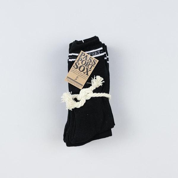 Pass Port 5pk Socks Black