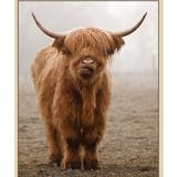 Bovine cow image canvas