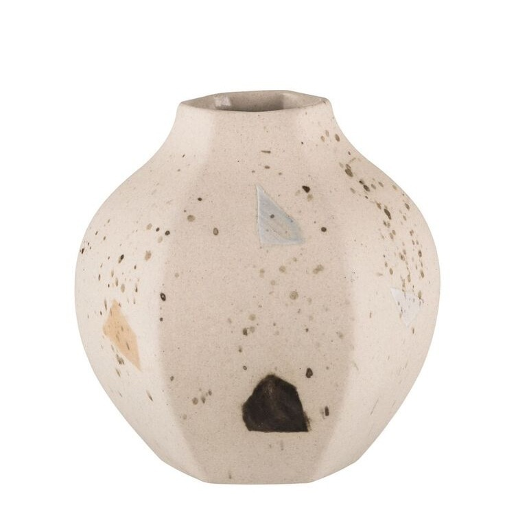 Carved Vase Rounded Confetti Cultivate Design Co Webshop