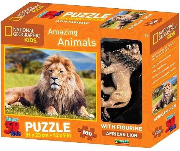 3D PUZZLE LION 100 PCS W/FIGURE
