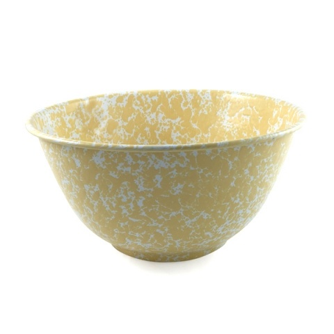 Crow Canyon Marbled Serving Bowl Yellow 28CM