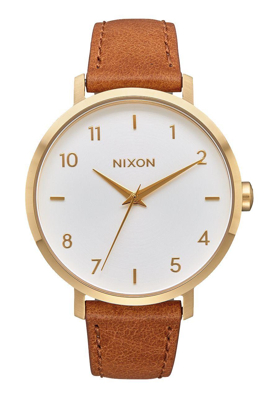 NIXON -ARROW LEATHER IN GOLD/WHITE/SADDLE A1091 2621-00