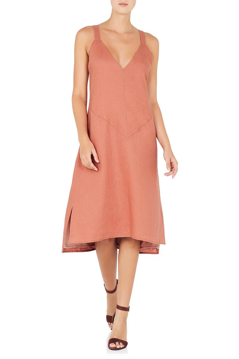 Arlington Milne Linen Slip Dress
