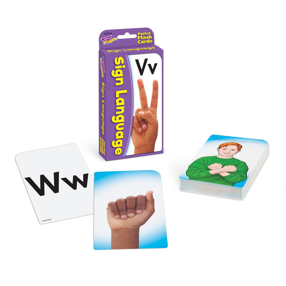 T 23016 SIGN LANGUAGE POCKET FLASH CARDS