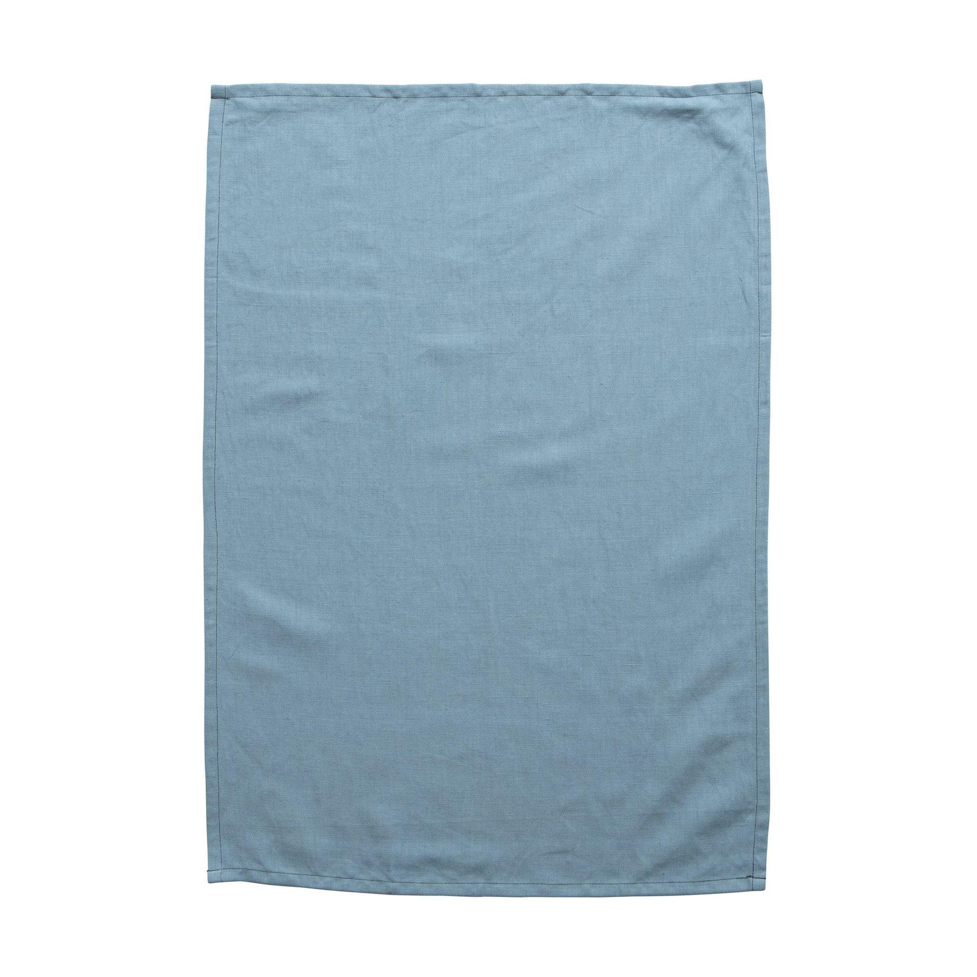 Milk & Sugar Cadet Blue Linen Tea Towel