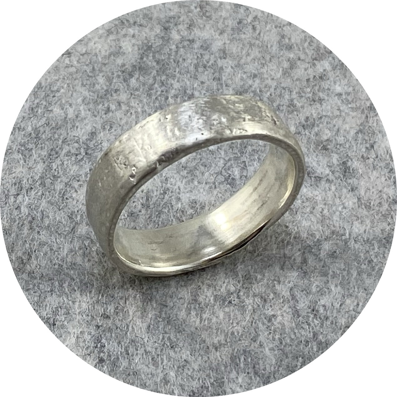 Katie Shanahan - Wide Reticulated Sterling Silver Ring
