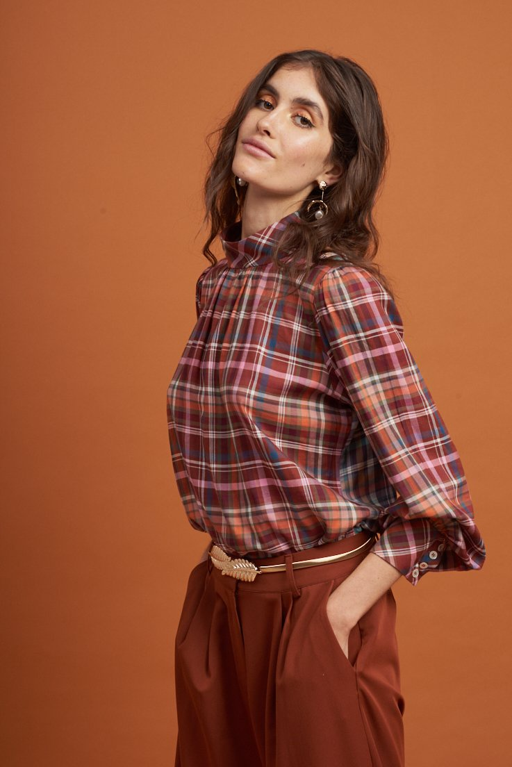Le Stripe Total Eclipse Shirt in Heritage Check
