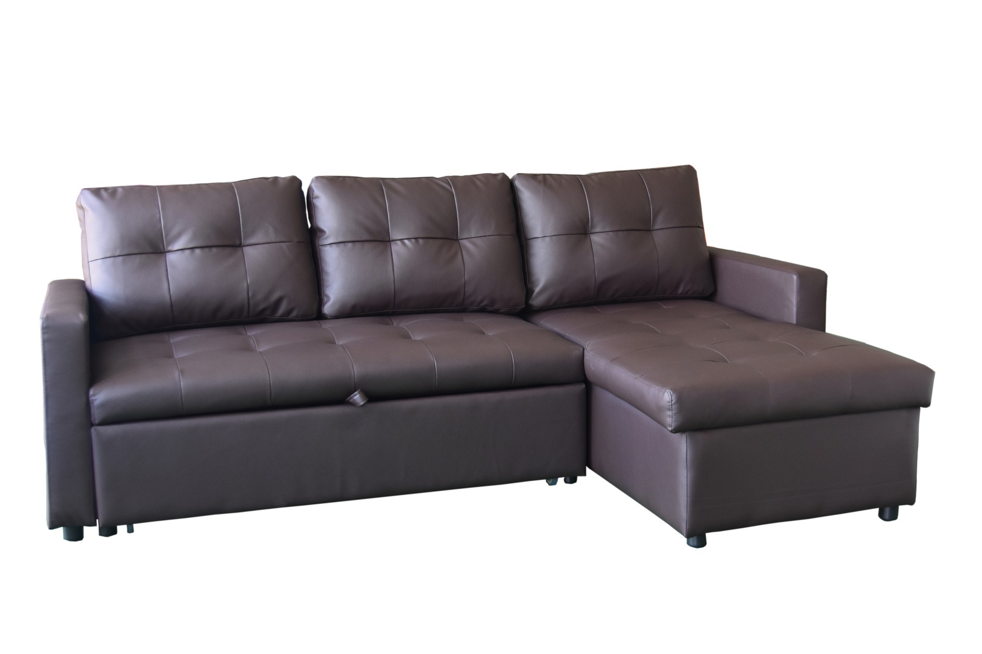 Milano Sofa Bed with Storage Brown LOUNGE SUITES
