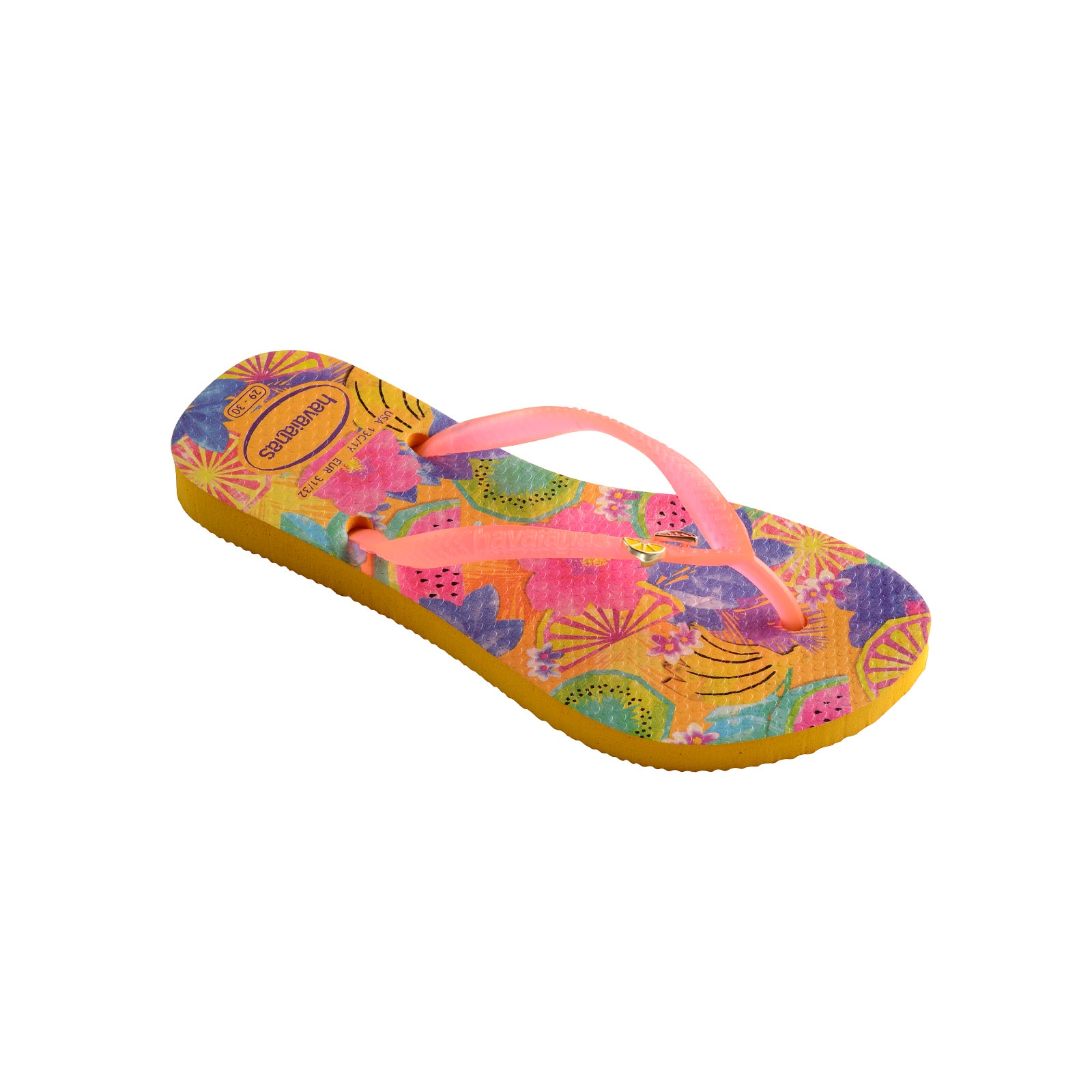 6a669811195af7 Havaianas Kids Slim Summer - Banana Yellow - Out There Surf
