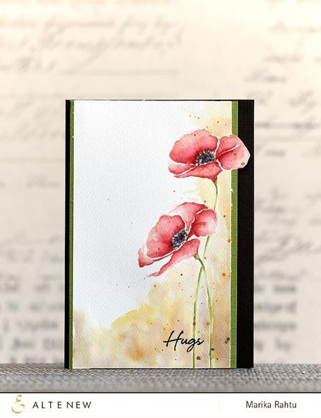 Altenew-Painted Poppy Stamp