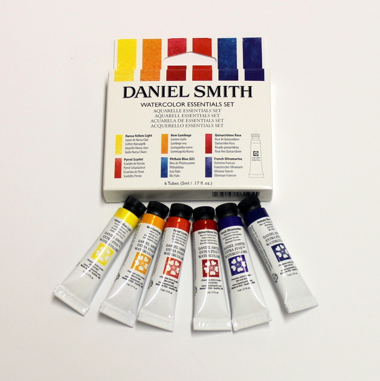 ds artist watercolour essentials set 5mlx6 italian artshop